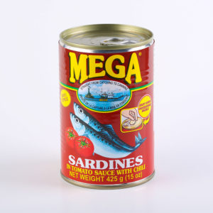 70 1606 857451000451 Mega Sardines Tomato Sauce with Chili 425g No.1
