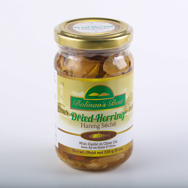 80 1602 671606000901 Bolinaos Best Dried Herring in Oil with Garlic 220g No.1