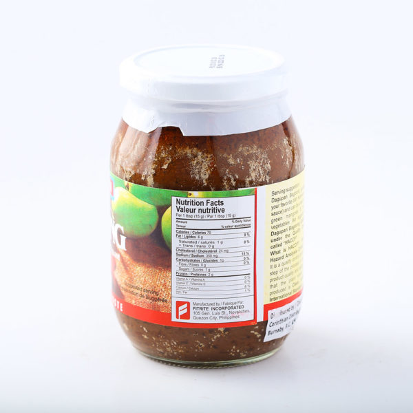 90 0030022392573733DAgupan Sauteed Shrimp Paste Spicy No.2
