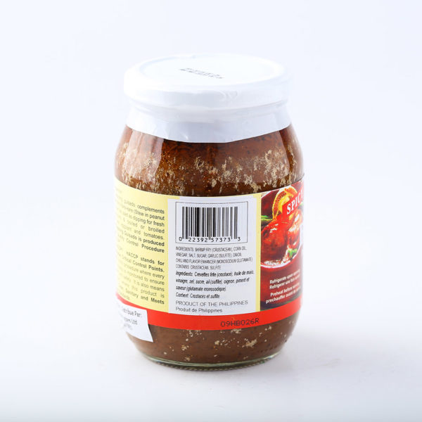 90 0030022392573733DAgupan Sauteed Shrimp Paste Spicy No.3