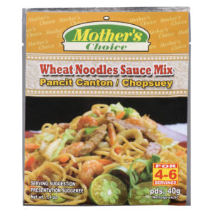 90 1830 022392476386 Mothers Choice Wheat Noodles Sauce Mix Pancit Canton 40g No.1