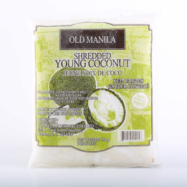 OLD 2050 671606000956 Old Manila Shredded Young Coconut 16oz No.1