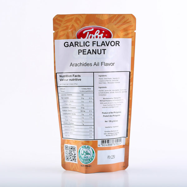 TOB 1414 4804888815024 Garlic Peanuts 120g No.2
