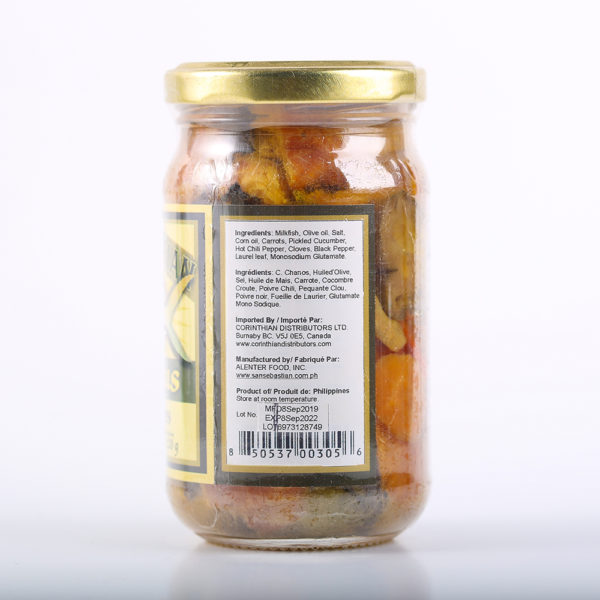 80 1604 850537003056 Bangus Milkfish in Olive Oil Hot Spicy 230g No.2