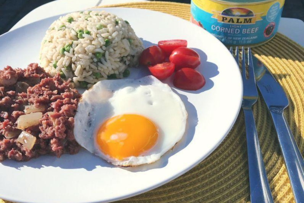 corned beef and fried rice
